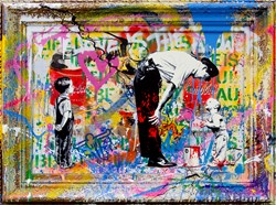 Pop Wall by Mr. Brainwash - Original sized 46x33 inches. Available from Whitewall Galleries